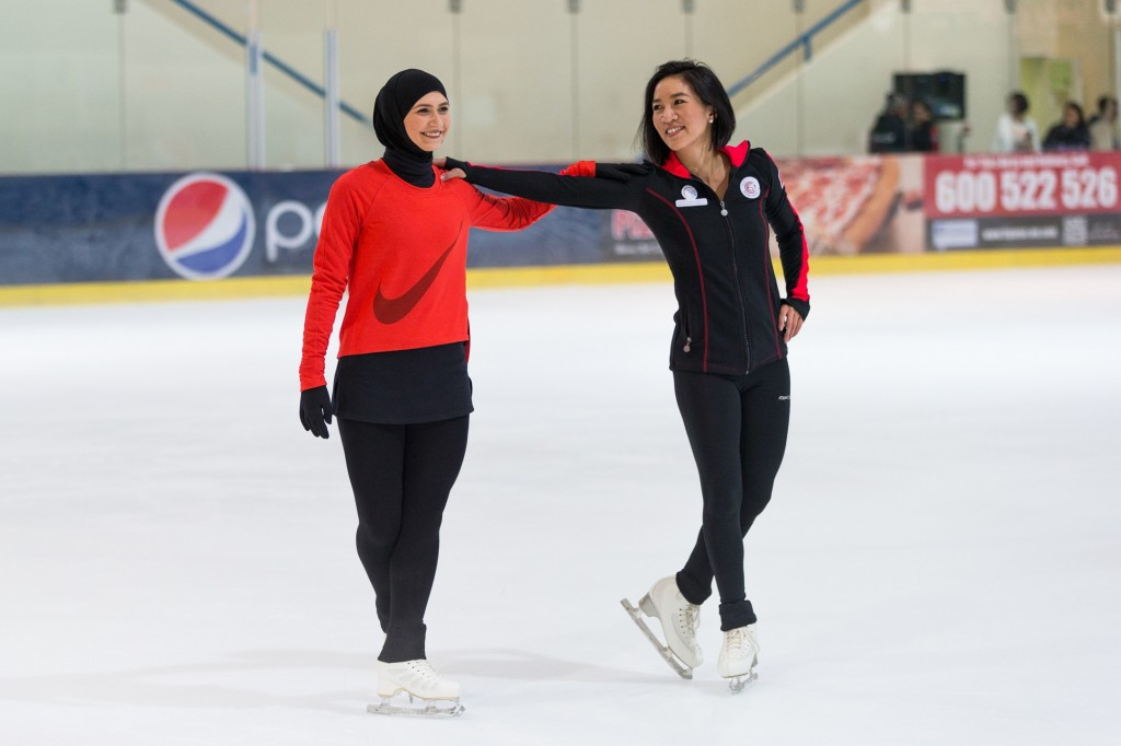 Olympian Michelle Kwan Graces Zayed Sports City Ice Rink